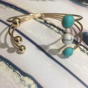 1 Left! Ava & Aiden Turquoise & Howlite Bracelet